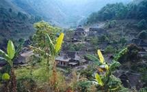 Poblado Blang de Manpo en Yunnan. Fuente: Wikimedia Commons.